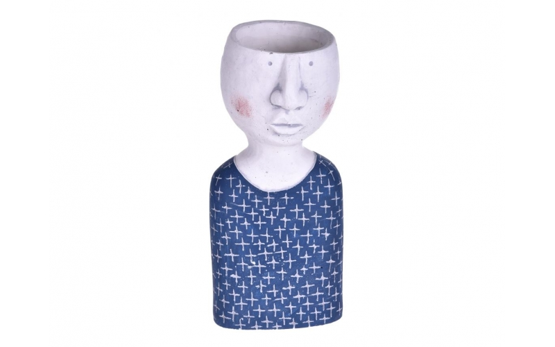 Vaso Testa corpo azzurro (Vuoto)
